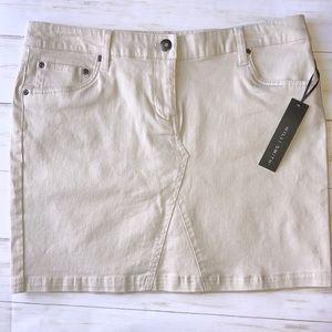 NWT Willi Smith Khaki Mini Skirt Denim Jean 8